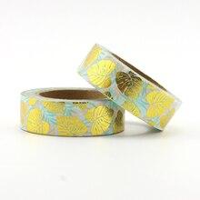 1X Foil leaves Washi Tape Colors Set Stationery Decorative Scrapbooking Christmas washi tape Scrapbook Paper