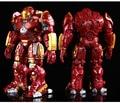 2 Iron Man Avengers Hulkbuster Armadura Articulaciones móviles 18 CM Marca Con Luz LED PVC Action Figure Collection Modelo de Juguete # FB