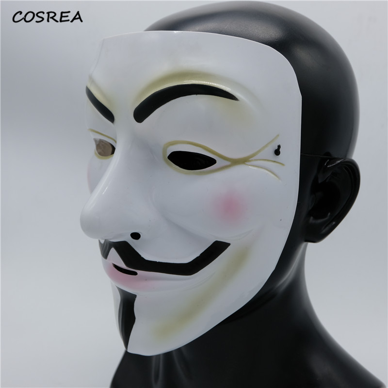 5PC 10PC Party Masks V for Vendetta Mask Cosplay Costumes Anonymous Guy Fawkes Fancy Dress Adult Costume Accessory Cosplay Props