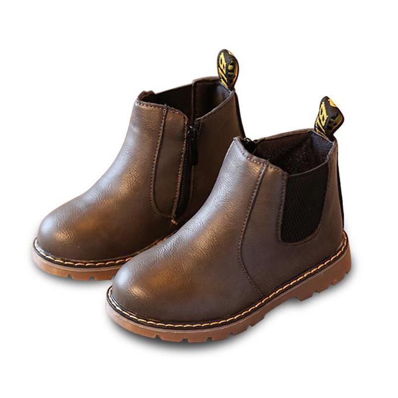 Ragazzi Ragazze Stivali Bambini Scarpe Sneakers Inverno Bambino Ragazzi Ragazze Martin Stivali Stivali in pelle fatti a mano Neonati maschi Scarpe da ragazza