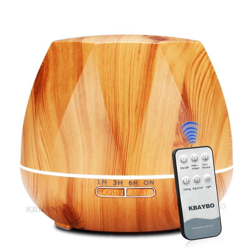 550 ml humidificateur d'air télécommande diffuseur d'huile essentielle ultrasons Cool brume humidificateur LED veilleuse pour bureau maison
