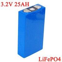 3.2 v 25ah bateria bloco lifepo4 fosfato grande capacidade 25000 mah motocicleta motor de carro elétrico baterias modificação