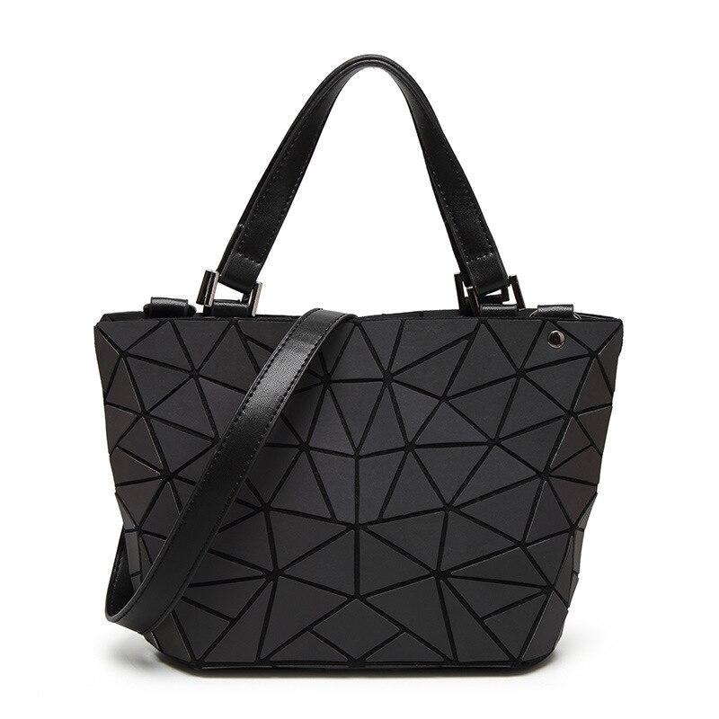 New Bao Bao Women Luminous sac baobao Bag Diamond Tote Geometry Quilted Shoulder Bags Saser Plain Folding Handbags bolso baobao