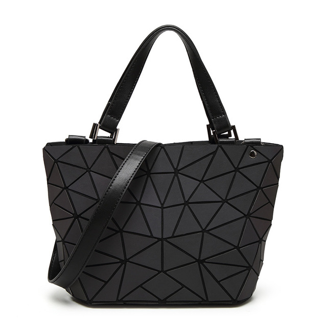 New Bao Bao bag Women Luminous sac baobao Bag Diamond Tote Geometry Quilted  Shoulder Bags Laser Plain Folding Handbags bolso – China Mall 1b1485136693f