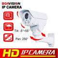 Rotary 1080 P Bala Al Aire Libre Cámara IP PTZ, 2.0MP 10X Zoom 80 M IR CCTV Ranura Para Tarjeta SD de la Cámara IP Con POE Alarma Audio Opcional