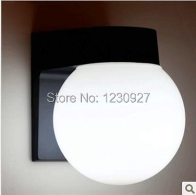 ФОТО High quality aluminum Modern brief waterproof outdoor wall lamp balcony outdoor led wall lamp  ball wall lamp