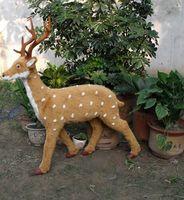 Большой 90x25x95 см Моделирование коричневый пятнистый олень модель, полиэтилен и меха Ремесленная украшения дома игрушка в подарок a2080