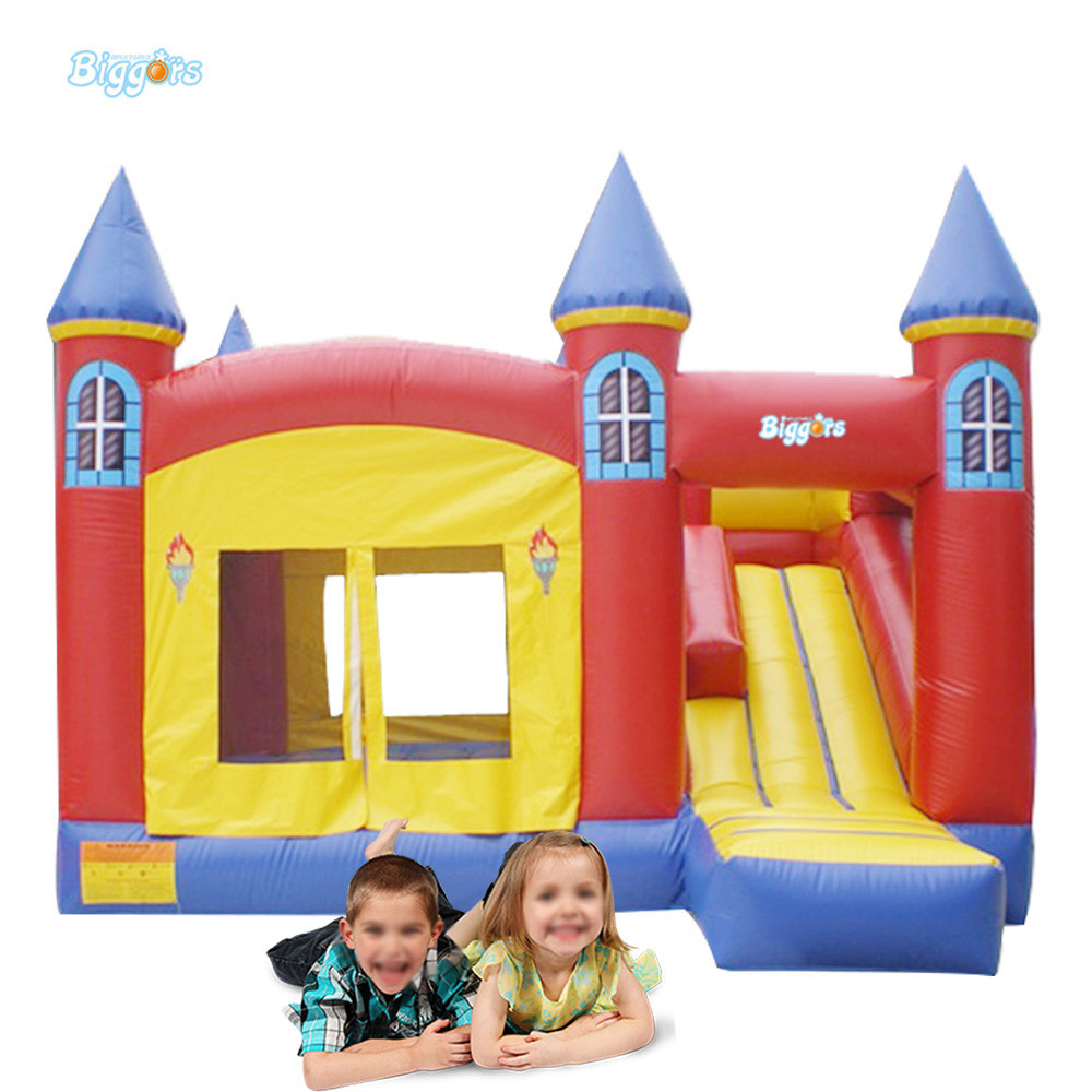 Hot Selling inflatable bouncy castle with slide inflatable castle with blowers