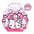2016 New Fashion Autumn baby Girls Clothes Cartoon Long Sleeve Hooded T-Shirt Cotton Girl Coat