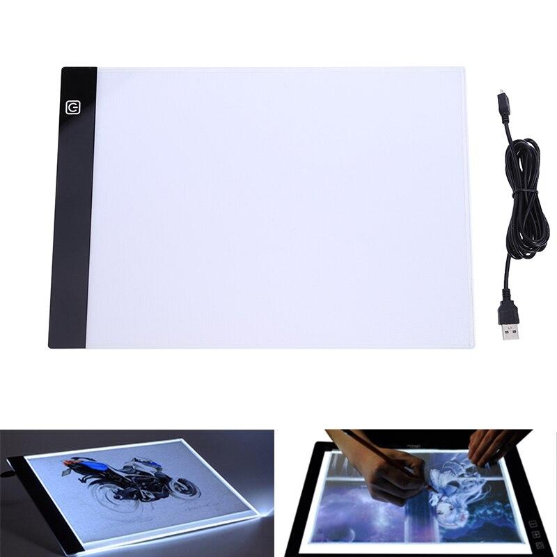 Llevó tableta gráfica escritura pintura caja de luz tablero de trazado copia Pads Digital Tablet dibujo artesanía A4 Mesa copia junta LED