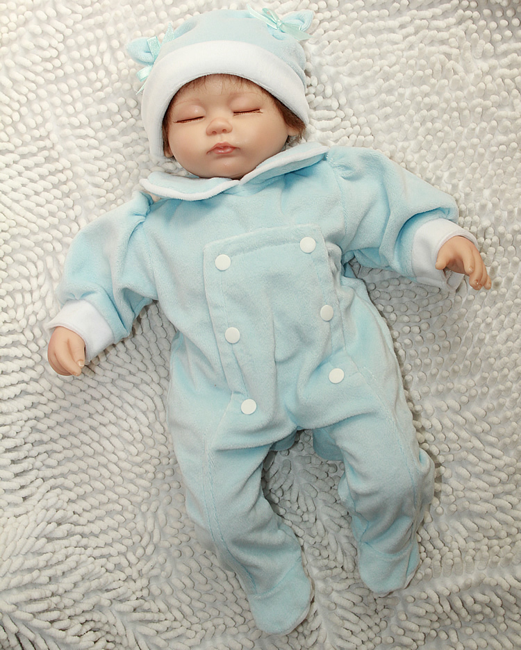 ФОТО Wholesale 18 inch Reborn dolls Handmade silicone vinyl newborn baby dolls lifelike lovely girl birthday gift
