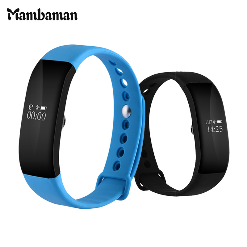 IP68 Waterproof Smart band V66 Heart Rate Monitor Smart Wristband Blood Pressure Anti lost Sedentary Remind