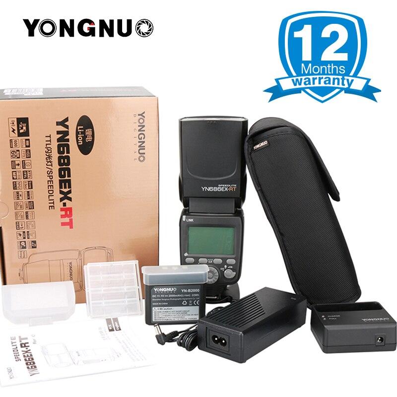 Yongnuo YN686EX-RT 2000mAh Li-ion Battery Speedlite GN60 2.4G Wireless HSS 1/8000s TTL/M/MULTI Flash Light YN686 for Canon DSLR yongnuo yn e3 rt ttl radio trigger speedlite speedlight wireless transmitter as st e3 rt for canon 600ex rt yongnuo yn600ex rt