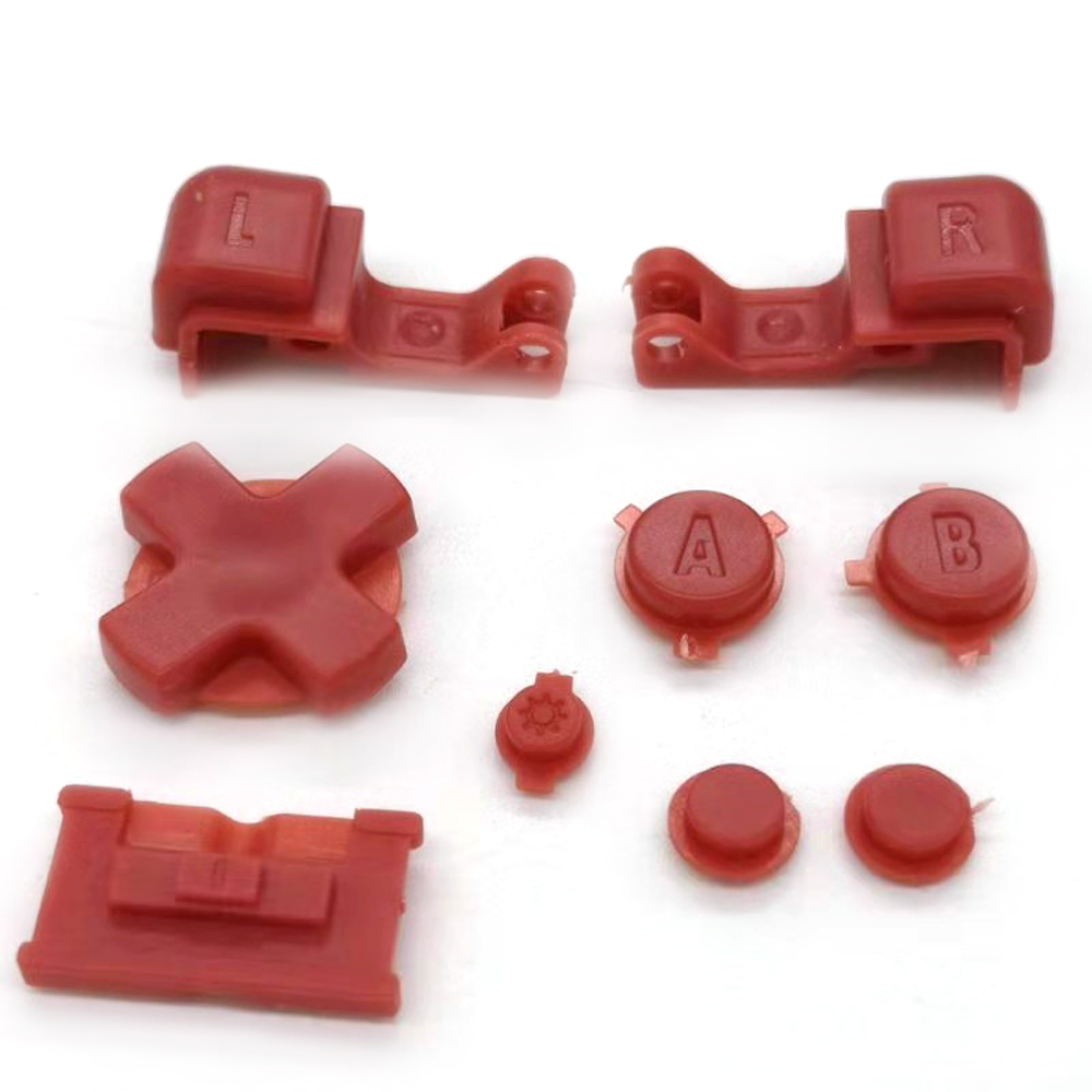 Red Plastic A B Select Start L R Buttons D Pad For GBA SP Full Button Set
