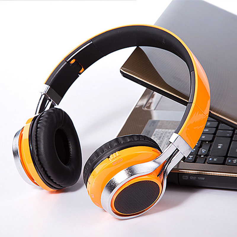 Auriculares LED Wireless Bluetooth Emitting Headphone HIFI Music Stereo Headset With Mic For IOS Android Phone PC Computer
