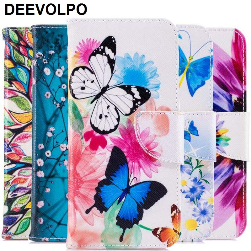 100% Quality Fundas Case For Samsung Galaxy S9 S8 Plus Note8 J3 J5 Prime J7 A3 A5 A7 2017 A8 2018 Flower Tree Flower Bear Leather Cover Dp07z