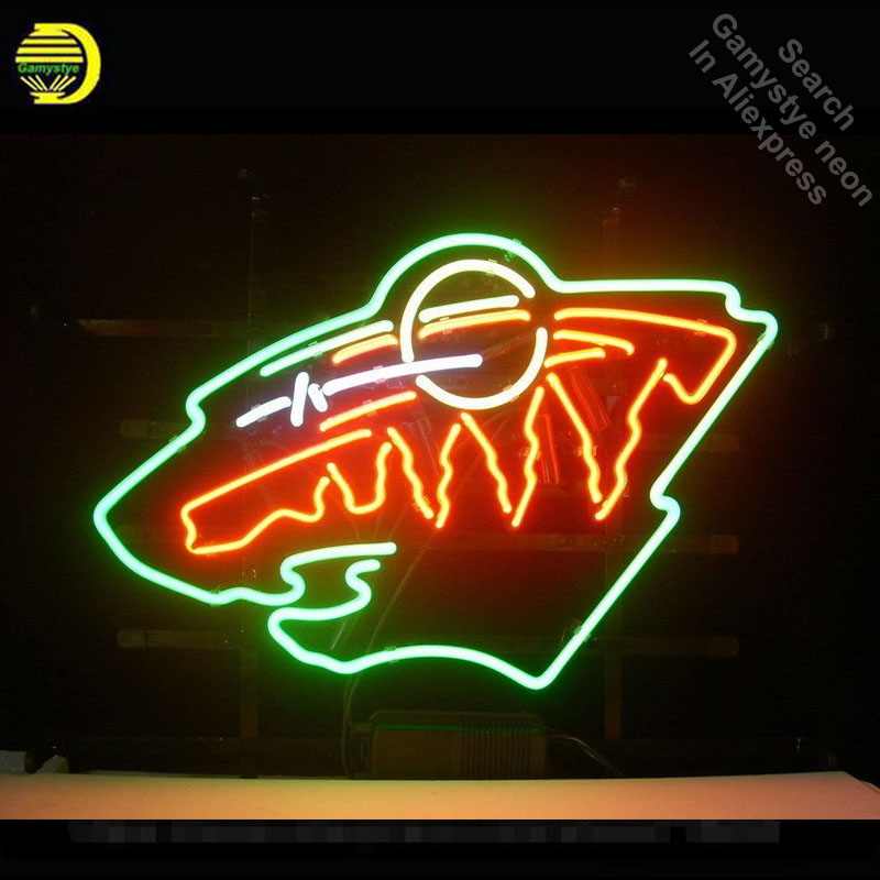 Neon Sign Sport Teams MWS Neon Light Sign Handcrafted Glass Tubes Customized Sport LOGO Fast Dropshipping Neon Lamps Wholesale led024 b open cocktail led neon light sign whiteboard wholesale dropshipping