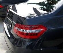 W212 AMG Style Glossy Black Carbon Fiber Trunk Spoiler For  2010-2015  E200 E260 E300 E400