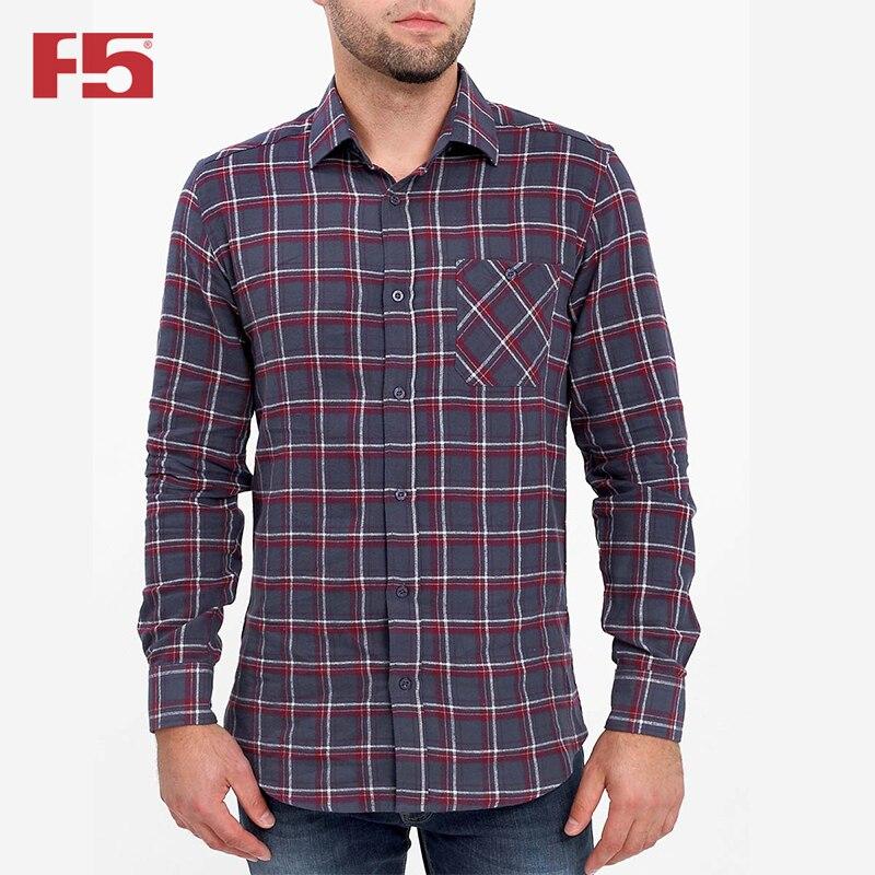 Men shirt F5 284002 men plaid detail shirt