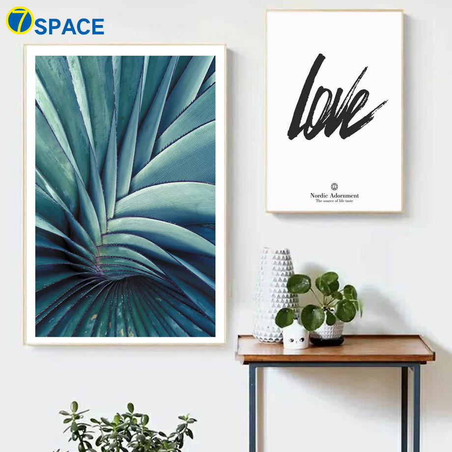Tropical Plant Agave Leaf Love Wall Art Canvas Painting Nordic Posters And Prints Decoration Pictures For Living Room Home Decor