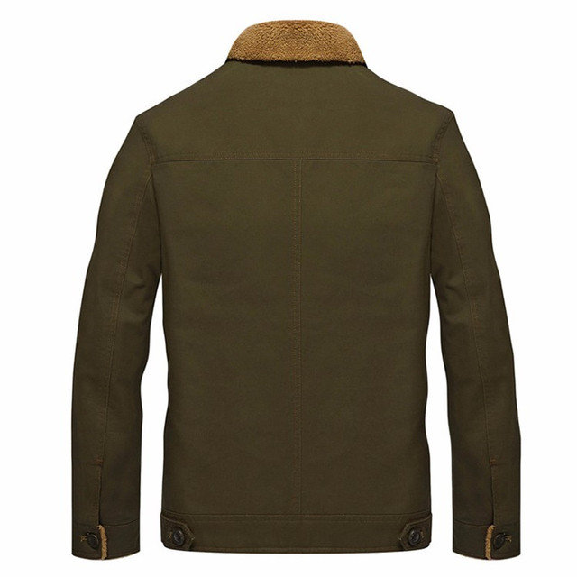 2019 Winter Men Bomber Jacket Air Force Pilot Jacket warm fur collar Male Tactical Military coat Plus velvet Mens Jacket 5XL
