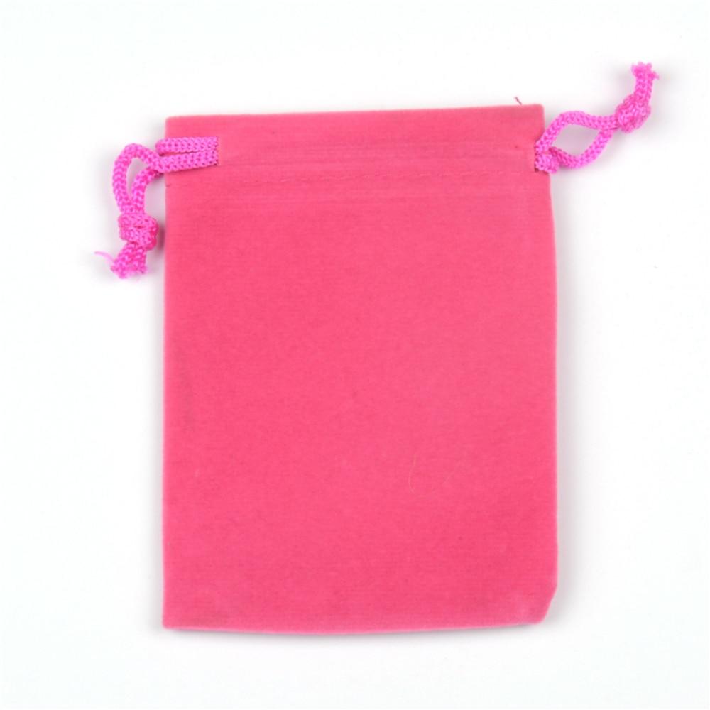 50pcs/lot 7x9cm Hot Pink Small Velvet Drawstring Bags Jewelry Charms ...
