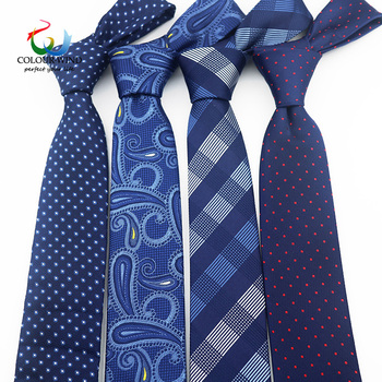 New Formal Ties For Men Classic Polyester Woven Plaid Dots Party Necktie Fashion Slim 6CM Wedding Business Male Casual Gravata