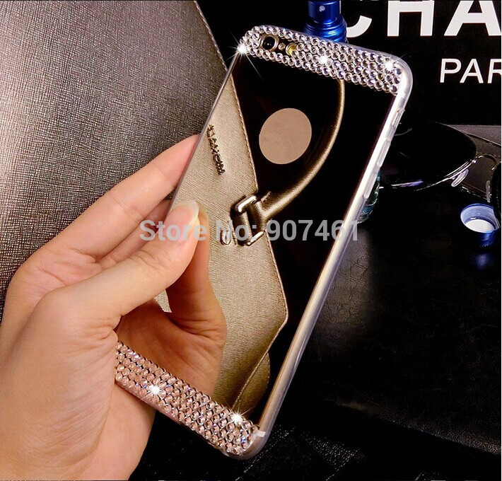 Apple iPhone 4 4s 5 5s 6 6S 4.7'' plus 5.5'' inch Bling Diamond Crystal Mirror Soft TPU Gel Case Back Cover apple - HOUSHINE TECHNOLOGY HOLDING LTD STORE store