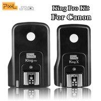 Pixel Wireless Flash Trigger King Pro Flash Remote Control Transceiver Receiver Set for Canon Eos 5D 7D 60D 1100D DSLR Cameras