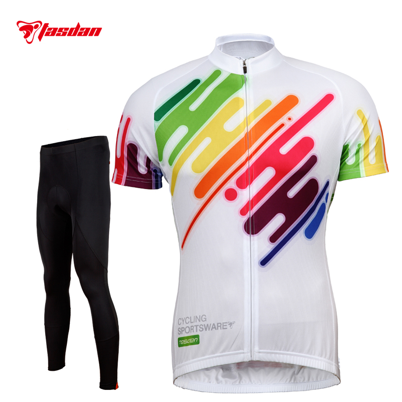 Tasdan Men Cycling Jerseys Sets Cycling Tight  Mens Suits Cycling Jersey Bike Bicycle Wear Padded Cycling Pants цена и фото