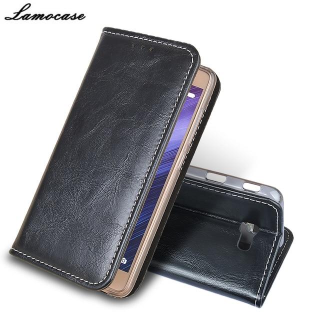 luxury Lamocase For Samsung Galaxy On7 2016 Flip Leather case For Samsung Galaxy On7 2016 SM-G6100 Wallet Stand Phone Case Cover