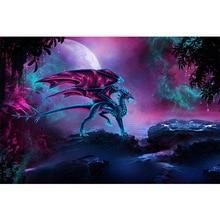 Purple dragon diamond Embroidery diy painting mosaic diamant 3d cross stitch pictures H259