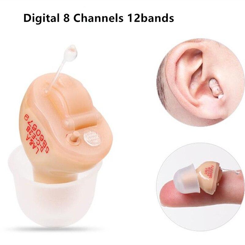 Aide auditive numérique AST CICT27 dans l'oreille invisible pour les personnes âgées sourdes prix avec piles A10 amplificateur sonore personnel oreille