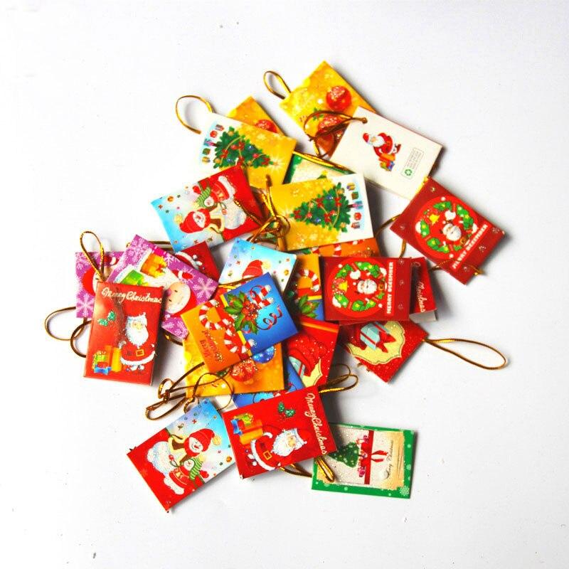 Pcs lot santa claus new year wish card greeting