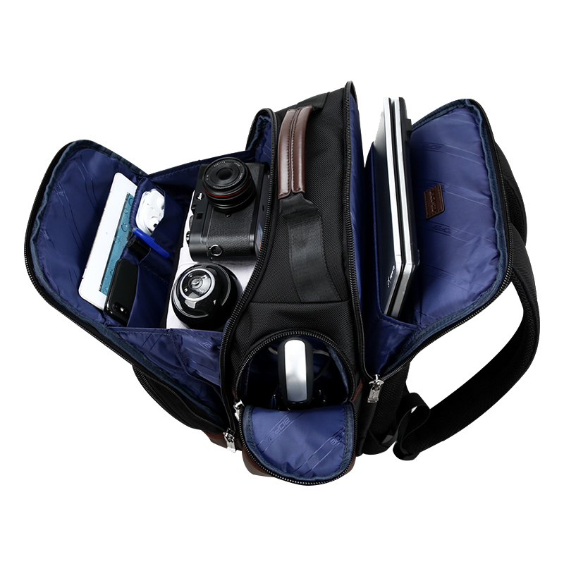 Men Woman Backpack Genuine Leather 15.6 Anti theft Large Capacity Mochila Laptop Shoulder Bags Male Business Travel Bolsa Gift - 5