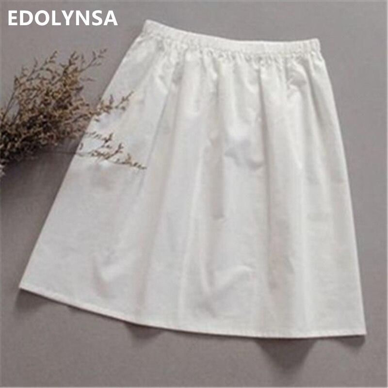 High Quality Women 100 Cotton White Solid Maxi Half Slip