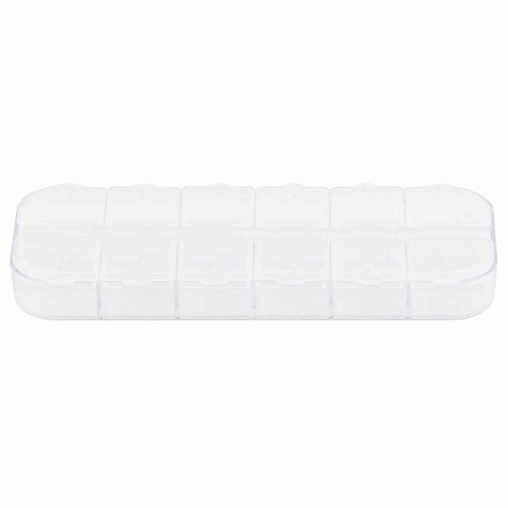 Células OUTAD 12 Transparente Conveniente Multi-Função De Armazenamento Caso Organizador Caixa De Jóias Pill Nail Art Anel de Drogas