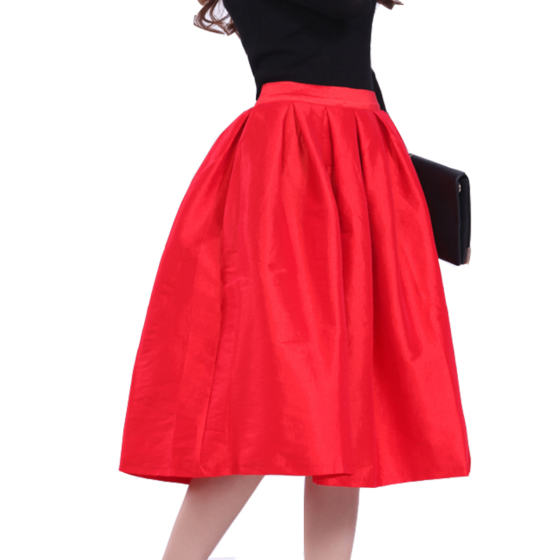 75cm Street Fashion Spring Super Puffy Midi Skirts High Waist ...