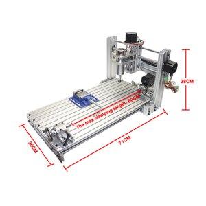 Image 2 - Diy mini stół cnc 4 osi 3060 pcb drewna metalu frezarka z szczęki imadła zaciski i frezy maszyny