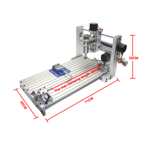 Image 2 - Diy mini table cnc 4 axis 3060 pcb wood metal milling cutter machine with jaw vice clamps and milling bits machinery