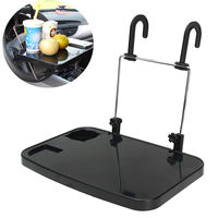 ABS Car Laptop Computer Desk Table for Car Back Seat Steering Wheel Work Dinning Desk Table Foldable Drink Cup Holder Stand