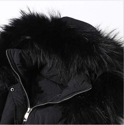 Blanc Plein Veste Fr3018 Col Parka Femmes Femme À Capuchon En Bas Épaississement De D'hiver Long Casual Air Canard Chaud Tendance Black Fourrure Manteaux f1qRwOU