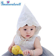 24a4ba460fa Bnaturalwell Nordic Vintage Style Baby Girl Lace Beanie Hat Girls Princess  Hat Baby Summer Sun Bonnet