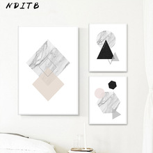 NDITB Marble Geometry Canvas Nordic Posters Abstract Prints Minimalist Wall Art Painting Decorative Pictures Modern Home Decor