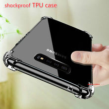 Transparent Silicone TPU Case For Samsung Galaxy A7 A6 A8 Plus A9 2018 S10 S9 S8 Plus shockproof Cover For samsung S7 edge Capa(China)