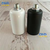 2/10 units ücretsiz gemi ucuz E14 siyah veya beyaz renk Edison filament ampul uydurma kolye lamba tutucu alüminyum seramik yuva