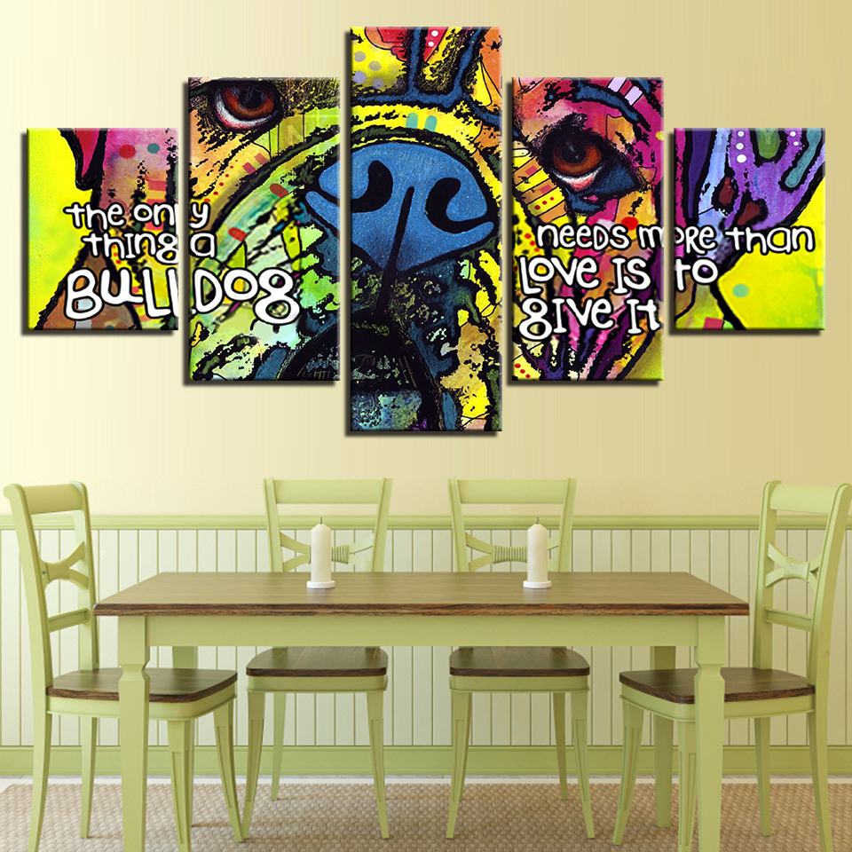 Canvas HD Prints Pictures Home Decor Living Room Framework 5 Pieces ...