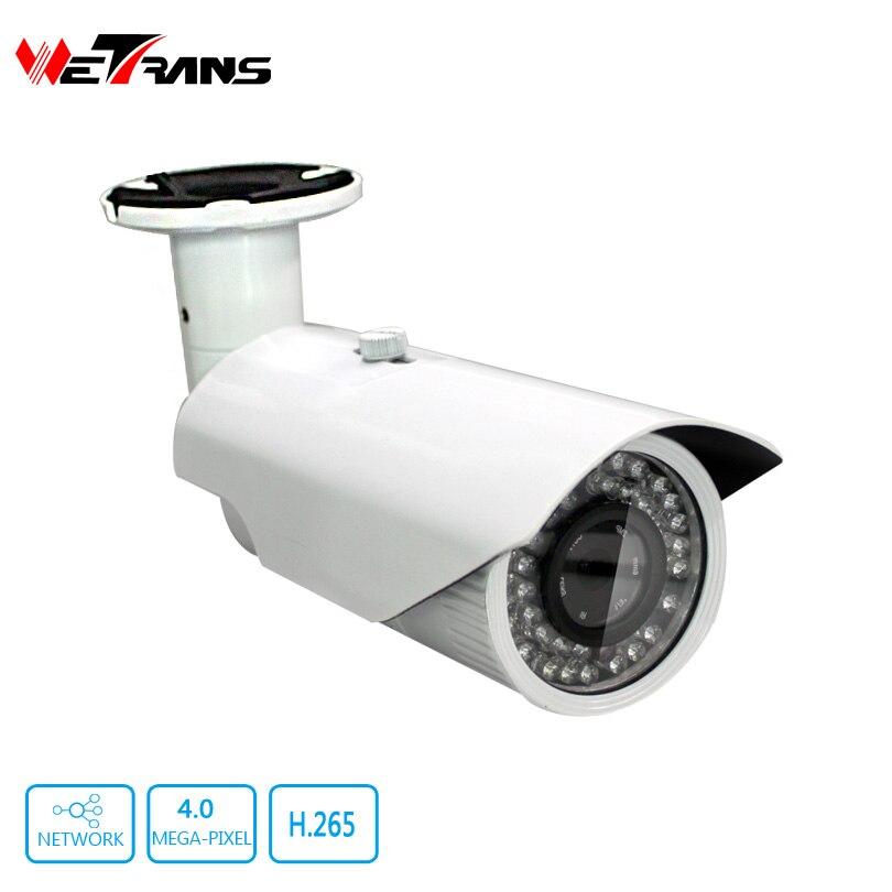 ФОТО CCTV Security Camera Real Time Bullet H264 IP Camera 4MP Full HD Outdoor 2.8-12mm Varifocal Lens P2P Surveillance Camera System