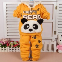 2015 Boys Winter Infants Young Children Sets Boys and Girls Clothing Suit Baby Panda Suit