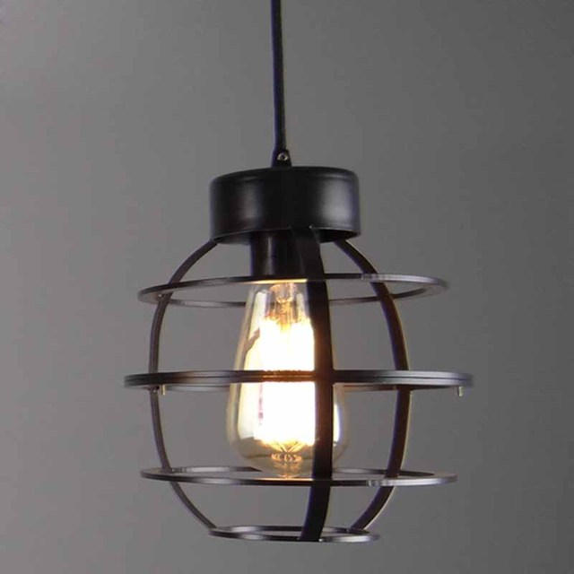 Nordic modern brief vintage country industrial loft iron edison pendant lamp warehouse dinning room home decor